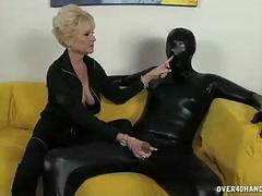 Dressed In Black Big Titted...