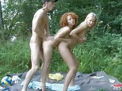 Outdoor Threesome Ends With...