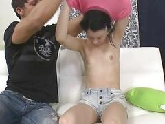 Babe gives fellatio...