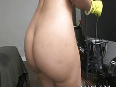 Latina maid naked tease and...