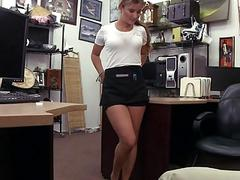Cutie waitress pounded by...
